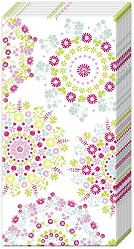 FLORAL FLOWERS Pocket Tissue English Country Garden 2 packs of Paper Pocket handbag Tissues Hankies CASPARI