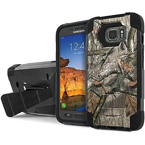 AT&T [Galaxy S7 Active] Armor Case [NakedShield] [Black/Black] Tough ShockProof [Kickstand] Phone Case - [Hunter Sales