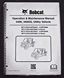 Bobcat 3400 Utility Vehicles Operator's Owners Operation & Maintenance Manual - Part Number # 6990187