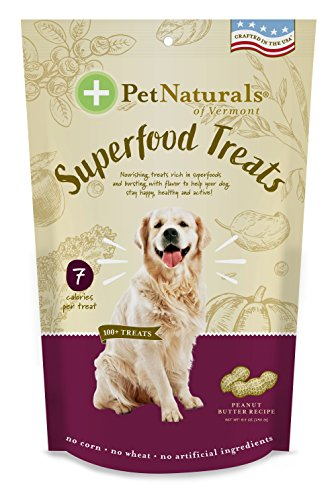 Pet Naturals Of Vermont – Superfood Treats For Dogs, Peanut Butter Flavor, 100+ Bite-Sized Chews, Organic Ingredients
