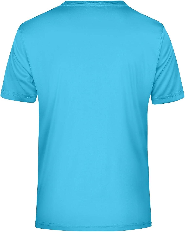 Guuja Herren Funktionsshirt V-Ausschnitt Sport T-Shirt atmungsaktiv schnell trocknend