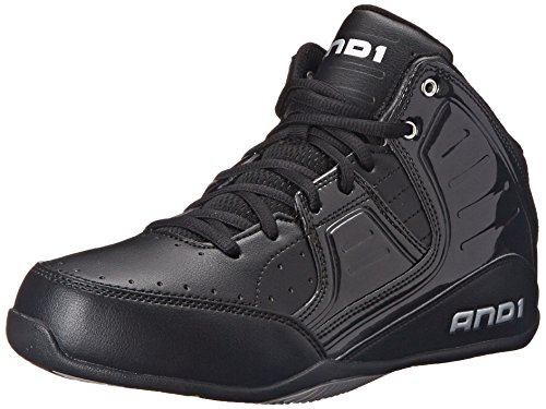 And1 ROCKET 4 MID, Herren Basketballschuhe, Schwarz (Black/Black-Silver), 42.5 EU