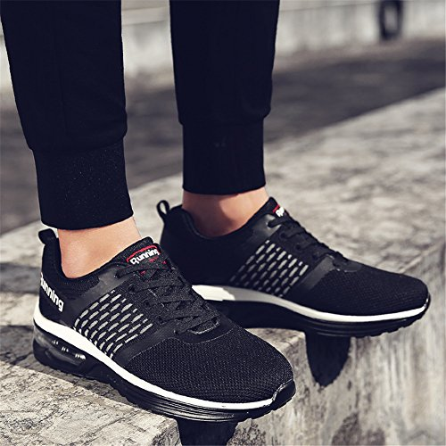 Black Men's Sport Running Sneakers Cushion Jogging Outdoor Shoes Women's Air RqaRPg