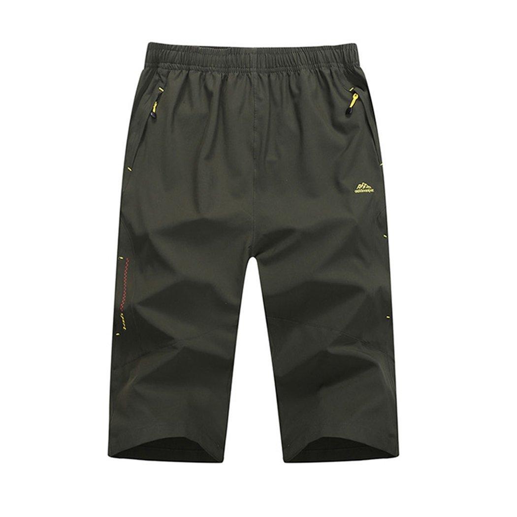 Rocky Sun Men's Summer Fashion Slim-Fitting Capri Pants Cropped Trousers Shorts 6551650040044