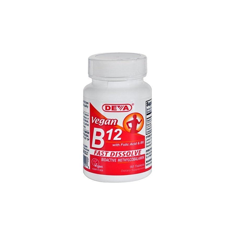 Deva Vegan Vitamin B 12 Fast Dissolve Lozenges