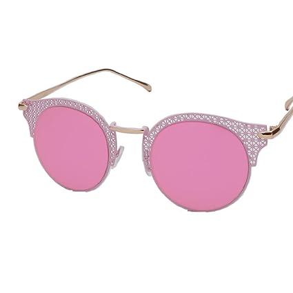 ANHPI Gafas De Sol Polarizadas Mujeres Medio Marco Cómodo Protección Solar Protección UV Gafas De Sol