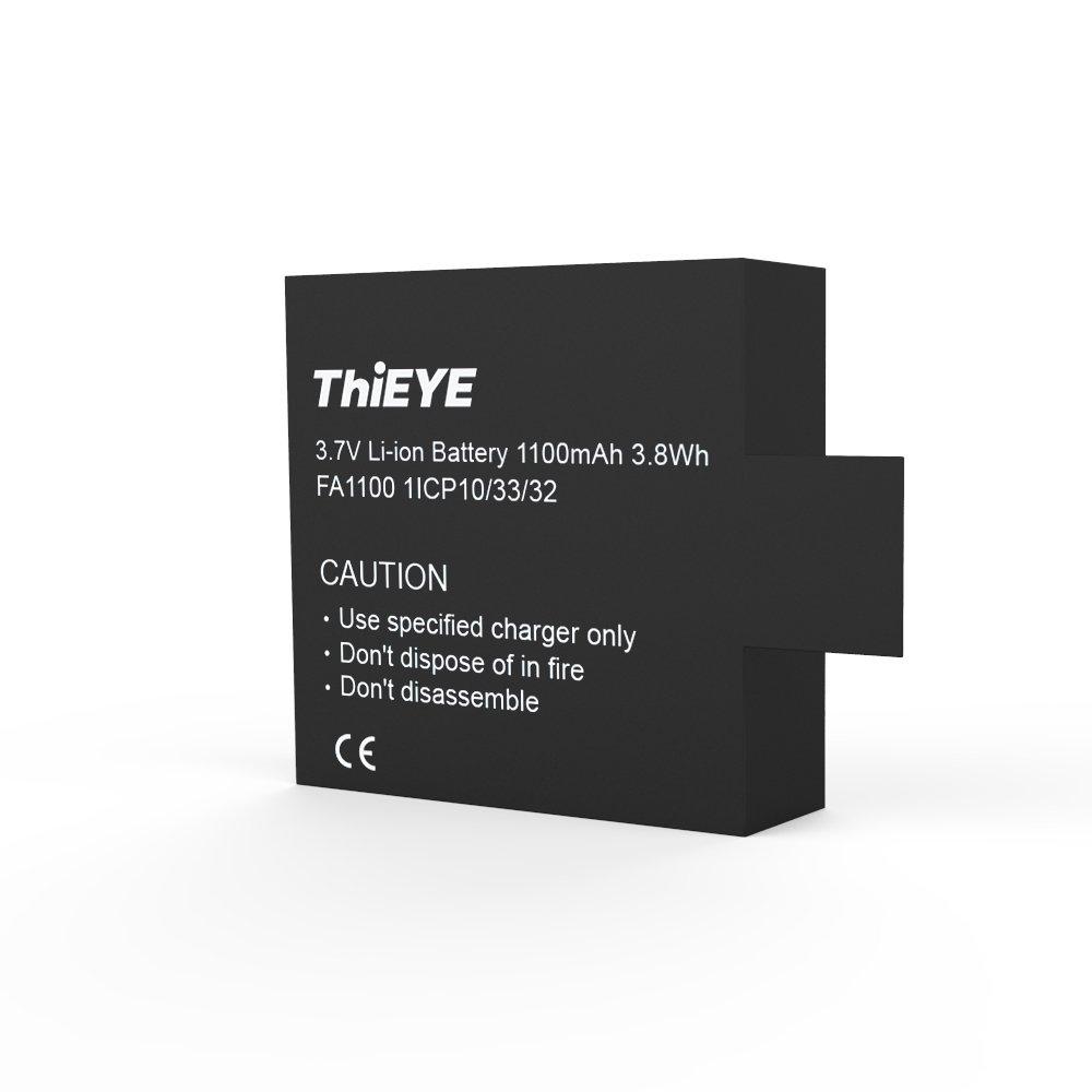 Original Wiederaufladbare Ersatzbatterie 1100mAh 3,7 V Li-Ion für ThiEYE T5e / E7 / T5 Edge Action Camera T5e- battery