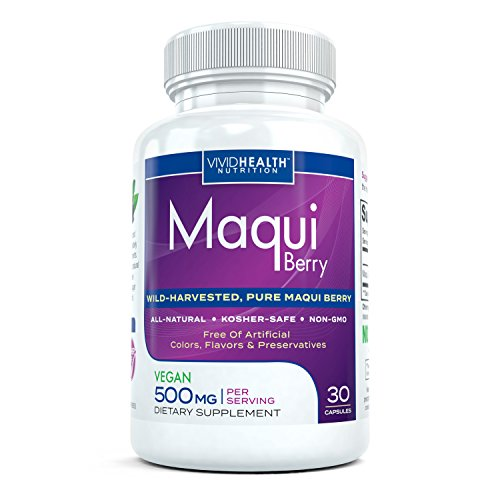 Maqui Premium - High Potency, Super Absorbable Maqui Berry Supplement. The All-Natural Diet, Cleanse & Detox, Antioxidant Superfood product. BETTER than Acai! (500mg - 30 Capsules)
