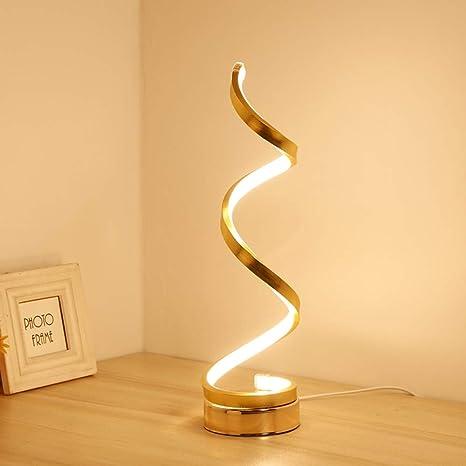 OUSENR Diseño Creativo Espiral Modernas Mesas De Luz ...
