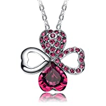 "NEEMODA ""Good Luck"" Luxury Crystal Heart Four-leaf Clover Pe..."