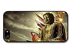 AMAF ? Accessories Buddha With Fire Sparks Tibet Buddhism case for iPhone 5 5S