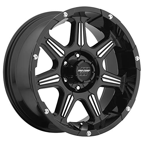 Pro Comp Alloys Series 01 Gloss Black Wheel with Machined Face (17x8