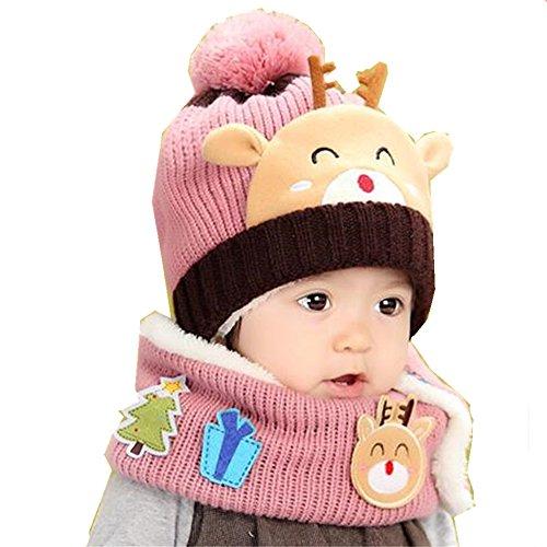 612d8057845 JIAMIN Baby Girls Boys Winter Hat Scarf Earflap Hood Scarves Skull Caps