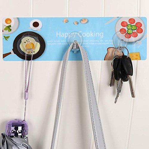 new uxcell Kitchen Bathroom Lavatory Self Adhesive Kitchenware Coat Robe Hook Rack Hanger 3 Hooks