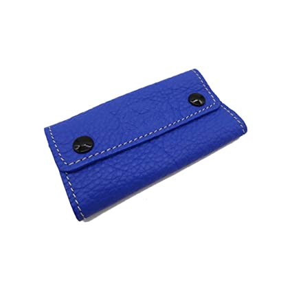 PORTALLAVES - Estuche DE Llaves DE Piel - Llavero DE Piel (Azul)