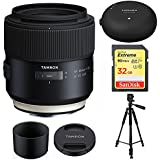 Tamron 85mm F/1.8 Di VC USD F016 For CANON FULL FRAME EF Mount Cameras With Tamron Tap-In Console, Sandisk 32GB Extreme SD Memory UHS-I Card and More