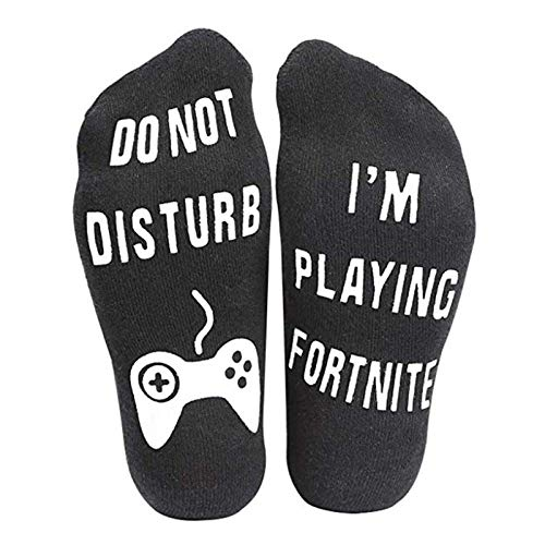 Do Not Disturb, Im Playing Gaming, Great Gift for Fortnite Gamer Lovers One Size Fit All (Black, Ankle Socks)