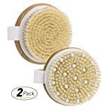 : OMorc Skin Body Brush 2 Pack with 100% Natural Bamboo and Massage Nodules, Body Scrubber for Cleaning, Massaging, Exfoliating, Blood Circulation - Improves Skin's Health And Beauty