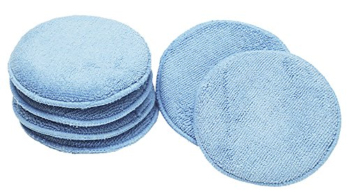 Zymol Leather Cleaner (Viking 862400 Blue Microfiber Wax Applicator, (Pack of 6))