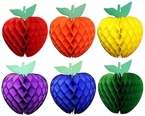 Classic Rainbow 7 Inch Apple Decoration (6 Apples)