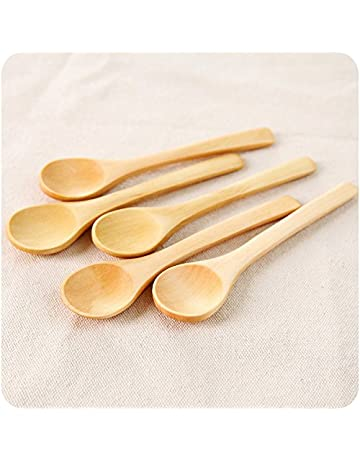 Craft Cucharones de Cocina, Utensilio de Cocina Pequeñas Cucharas de Madera Té Café Mermelada Azúcar
