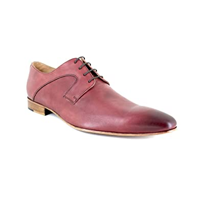 dd7e380ff1a J.BRADFORD Richelieu Cuir Rouge JB-Valentin  Amazon.fr  Chaussures et Sacs