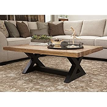 Ashley Furniture Signature Design   Wesling Coffee Table   Cocktail Height    Rectangular   Brown Top