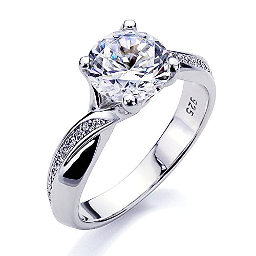 Double Accent BS12R0381AZ80 Platinum Plated Sterling ...