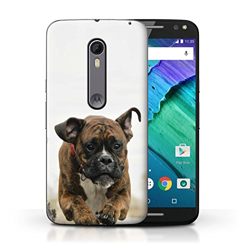 - STUFF4 Phone Case/Cover for Motorola Moto X Pure Edition/Boxer Design/Popular Dog/Canine Breeds Collection