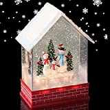 Eldnacele Musical Snow Globe House with
