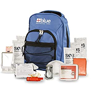 Blue Coolers Blue Seventy-Two | 72 Hour Emergency Backpack Survival Kit for 1 Person | Survival Kit for Roadside, Earthquakes, Tornado, Hurricane, and Other Emergencies
