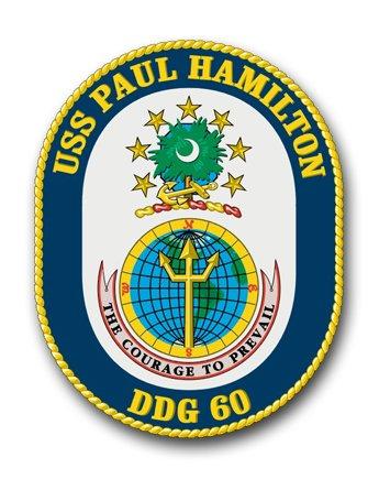 US Navy USS Paul Hamilton DDG-60 Military Veteran Served Window Bumper Sticker Vinyl Decal 3.8