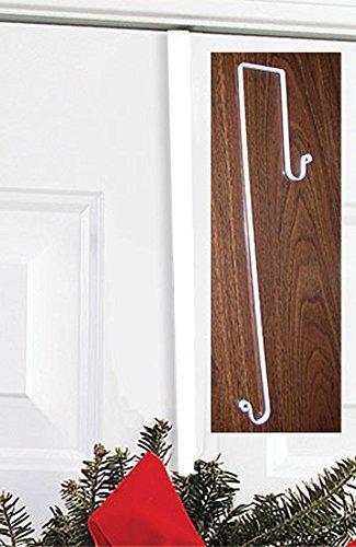 Iron Christmas Wreath Hanger - 13 Winter Door Hook, Wreath Hook for Front Door,Chrstimas Decorations White by Iron Works