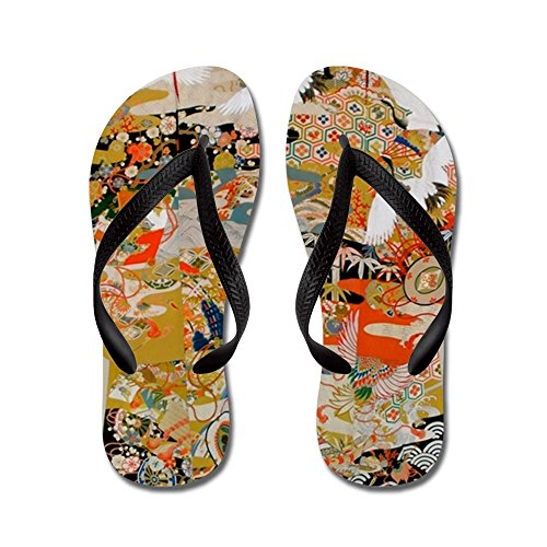 CafePress Luxurious Antique Japanese Kimono For F - Flip Flops, Funny Thong Sandals, Beach Sandals (Japanese Antique Kimono)