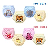 Losorn Baby Boys Girls 4 Pack Cute Potty Training Pants Reusable