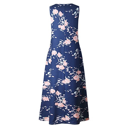 RAFAGO Loose RAFAGO Sleeveless Printed Printed Dress rw4nSzrq1