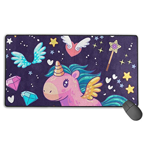 Mouse Pad Custom Personalized Unicorn Time Heart Wing Star Mouse Mat Mice Mousepad Gaming Mouse Pad