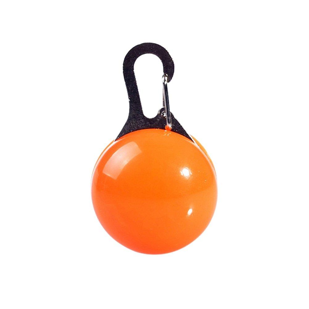 Tutuba Dog Collar LED Light,Safety Night Walking Lights Pendant Clip-on Circular Collar Anti-Lost Blinking Light Outdoor