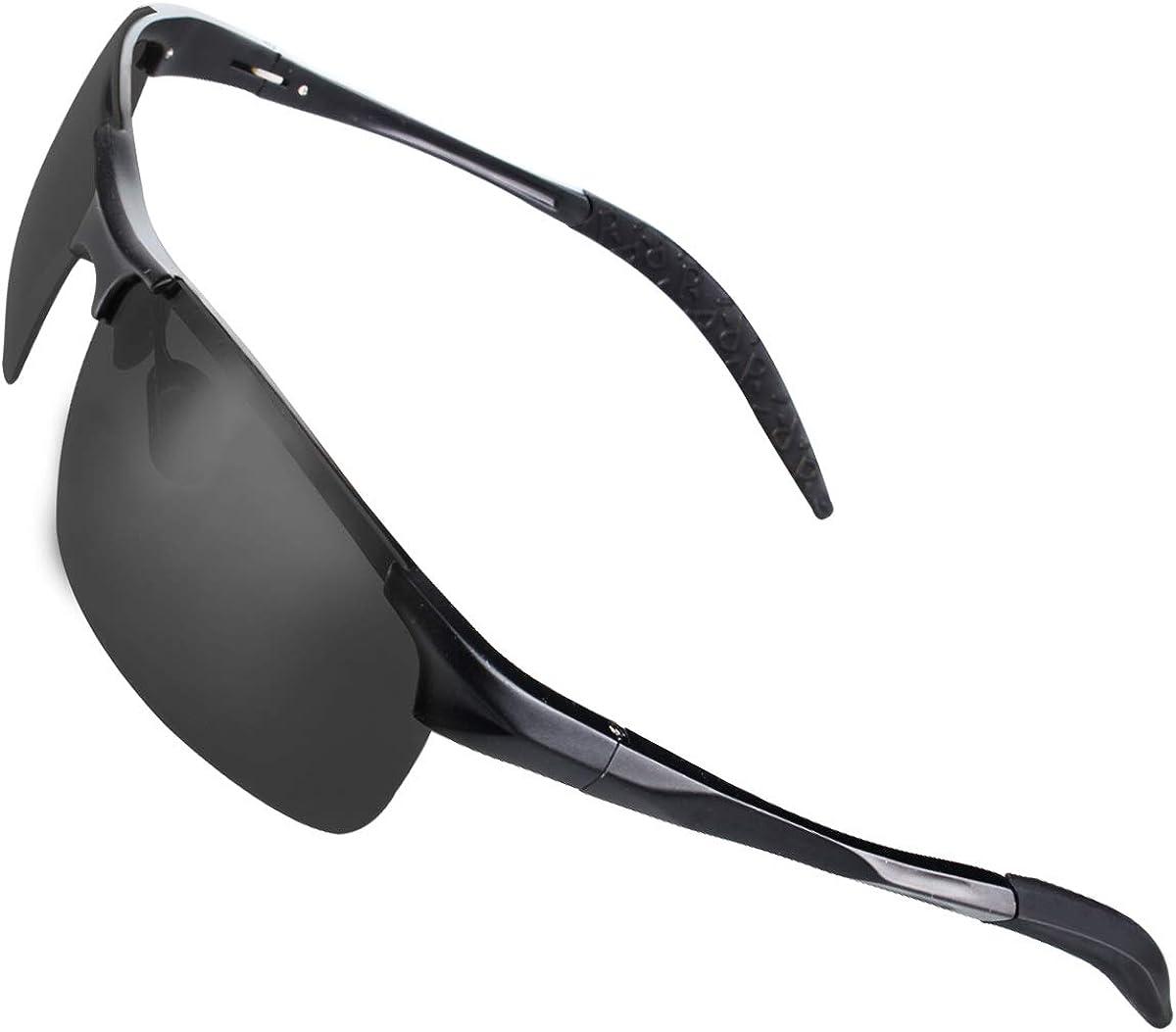 CHEREEKI Gafas de Sol Deportivas, Gafas de Sol Polarizadas de Conducción con protección UV400 para Hombres y Mujeres