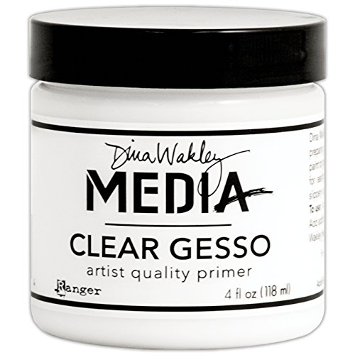Ranger MDM46424 Dina Wakley Media Gesso 4oz Jar-Clear (Best Gesso For Art Journaling)
