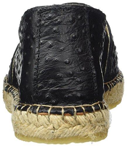 Selected Ostrich Bonbon Sfmarley Espadrilles Femme black Noir Femme Rose rwRpaqr