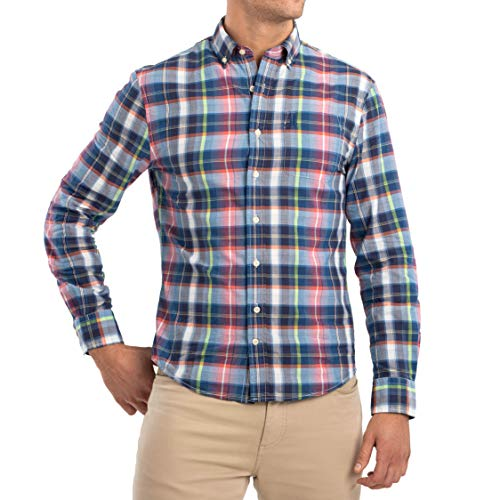 johnnie-O Men's Hangin' Out Ethan Woven Sport Shirt (Wake, L)