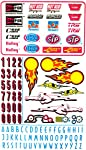Vintage Hot Rod Pinewood Derby Decals from Pinewood Pro