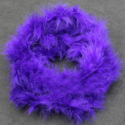 BaoST 2M Feather Boa Strip Fluffy Trim Craft Costume DecorativeTurkey Feather Multi Color Long Feathers Strip Boa for Night Dressup Wedding Fancy Party DIY Craft Decoration Purple