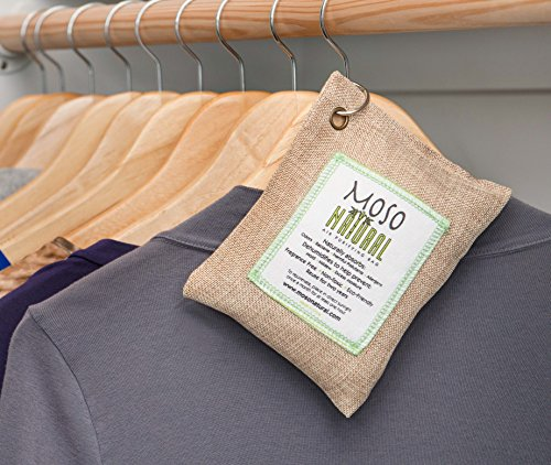 Moso Natural 200g and 500g Air Purifying Bag Deodorizers. Odor Eliminator for Cars, Closets, Bathrooms and Pet Areas. Absorbs and Eliminates Odors Natural Color by Moso Natural (Image #3)