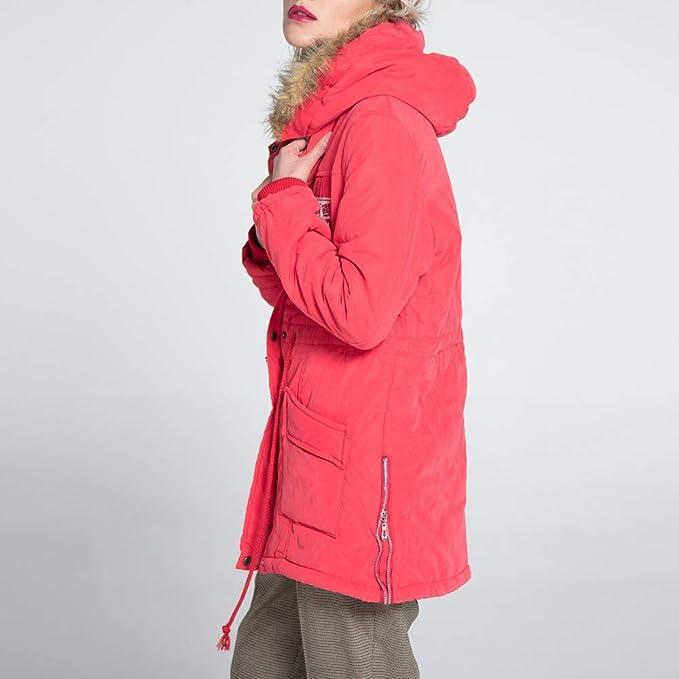 Linlink Mujeres cálida Capa Larga Abrigo de Invierno Parker Delgado de Piel con Capucha Chaqueta Slim Invierno Parka Outwear Abrigos: Amazon.es: Ropa y ...