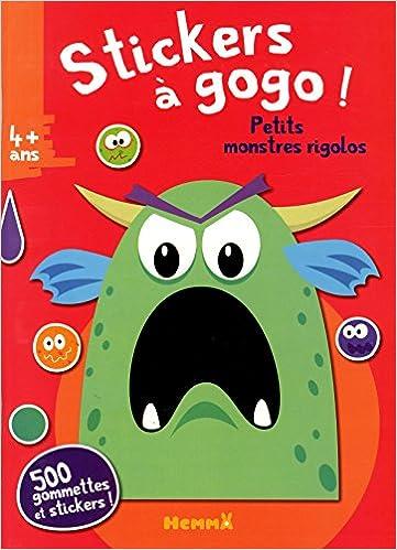 Télécharger en ligne Stickers à gogo - Petits monstres rigolos (Fond rouge) epub, pdf