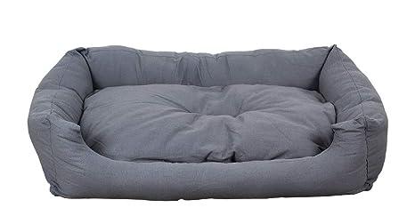 Cama para perros en gris moderno, 120x80 cm con colchoneta reversible, colchoneta para perro lavable: Amazon.es: Productos para mascotas