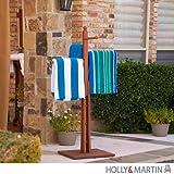 Southern Enterprises Mission Towel Rack 54'', Dark Brown Oiled Finish