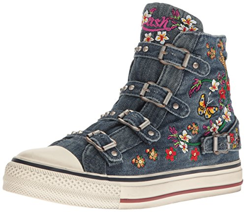 Ash Women's Virtu Fashion Sneaker, Blue, 38 EU/8 M US